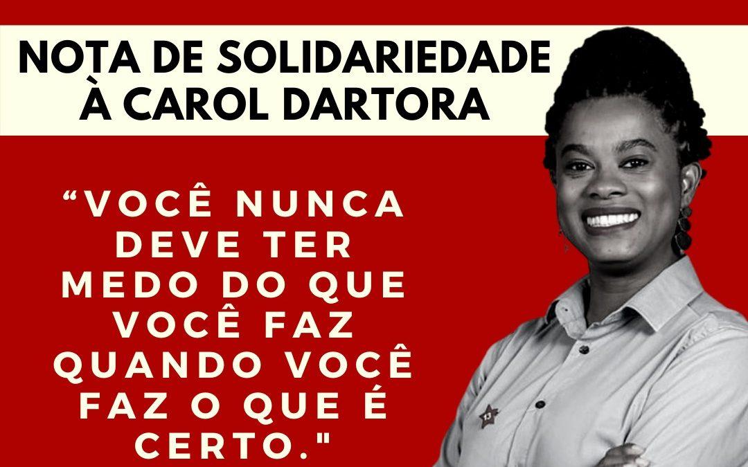 Nota de solidariedade do PCdoB de Curitiba à vereadora Carol Dartora (PT)